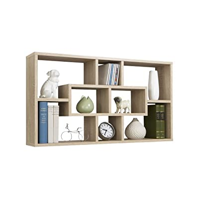 FMD Wall Mounted Shelf Lasse, 85.0 x 47.5 x 16.0 cm, Oak produced by FMD Möbel - quick delivery from UK.