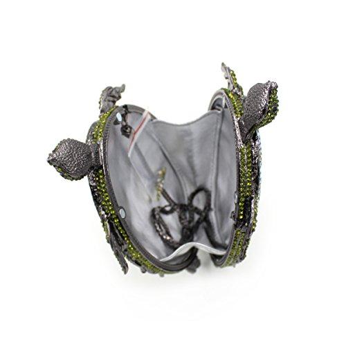 Luxus Strass Schildkröte Abend Tasche Damen Lieblings Handtasche Hochzeitsfeier Kupplung Geldbeutel Metallrahmen A