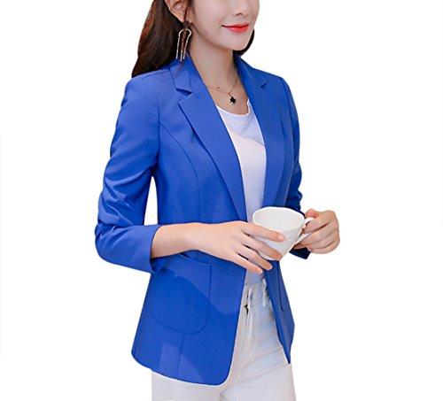 Aisuper - Giacca da abito - Maniche lunghe  -  donna Blue