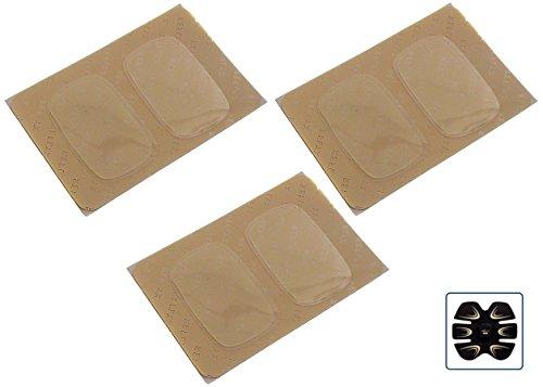 6 Pad elettrodi gel cuscinetti adesivi ricambi Fitpad 6 3 Fit six pack Reflyx Tech elettrostimolatore muscolare ems