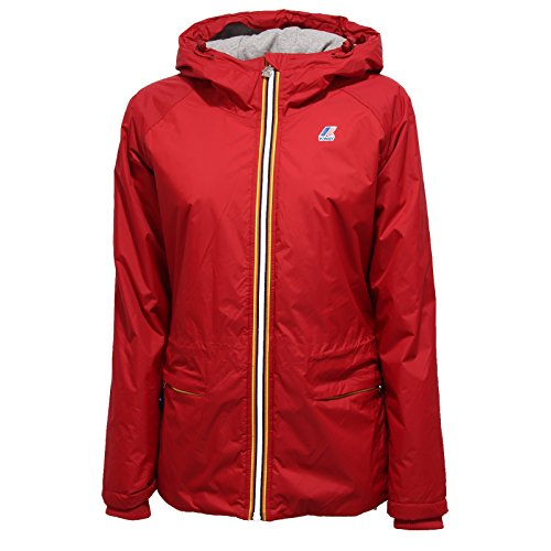3079R giubbotto donna KWAY CORALIE PLUS PADDED rosso jacket woman [8/S]