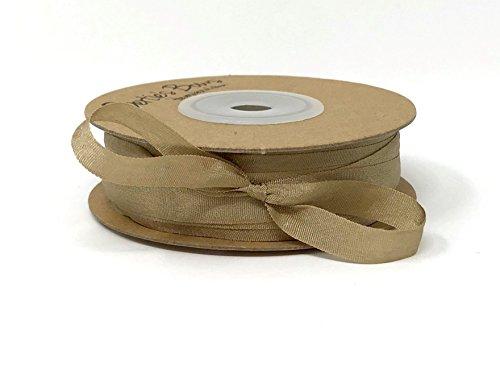 Berties 'Bögen Taupe 7mm 100% natürlichen Seidenband auf Einer 3m Länge (Bitte Beachten Sie: Dies ist Ein aus Einer Rolle Geschnitten, auf Ein Band Karte) (7 Mm Seidenband)