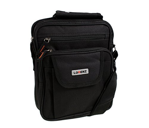 Mens Ladies Canvas Messenger Shoulder/Travel Utility Work BAG Cross Body (Black), One Size