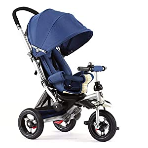 GSDZSY - 3 IN 1 Children Kids Tricycle, Seat Adjustable, Baby Can Sit Or Lie Flat, Push Rod Can Control The Direction, Rubber Wheel, 1-6 Years Old   7