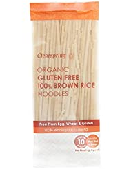 Clearspring Organic Gluten Free 100% Brown Rice Noodles, 200 g