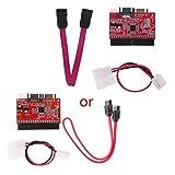 Yinuiousory 2 in 1 IDE Zu SATA/SATA Zu IDE Konverter Adapter 40pin + Kabel Für ATA HDD DVD