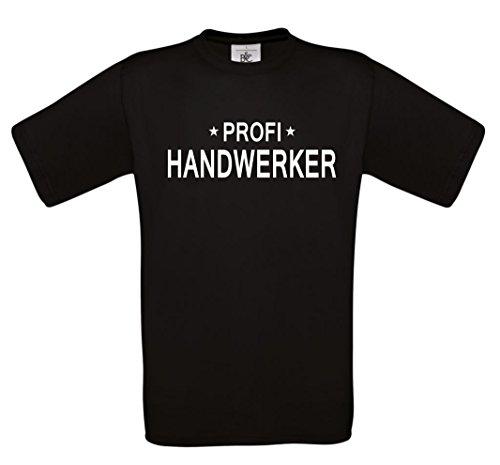 T-Shirt mit der Aufschrift Profi Handwerker Schwarz
