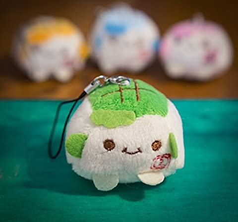 Buy any 2 & get 1 FREE! Green Super Cute 3-4 cm Tofu Phone Charm / Keyrings Kawaii Soft Squidgy Plush Colorful Chinese Tofu Generic Cartoon Expression Smile Face Toy Unique Gift Luxury Accessories Animal Fashion