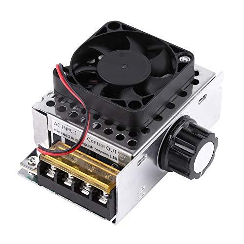 Delaman Spannungsregler - 4000W SCR Spannungsregler Dimmertemperatur Motordrehzahlregler mit Lüfter