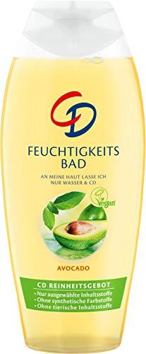 CD Feuchtigkeitsbad Avocado - Veganer, feuchtigkeitsspendender Badezusatz mit zart-frischem Duft und Avocado-Extrakt für trockene Haut - 6er Vorratspack (6 x 500 ml) - Sensitiv Schaumbad