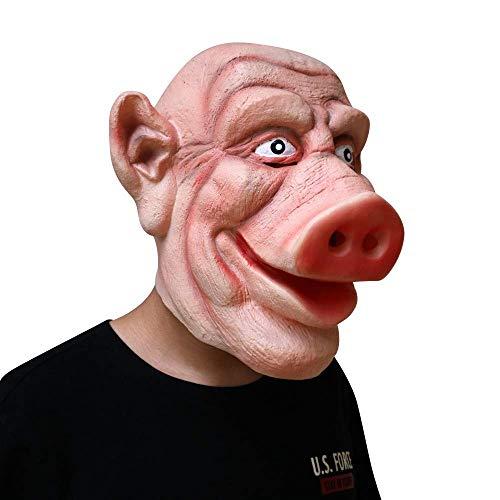 Latex Halloween Party Cosplay Maskerade realistische Masken volles Gesicht Tier lustige Schwein Kopf Maske lebensechte Dekor Maske (Familie, Lustige Halloween-traditionen Die)