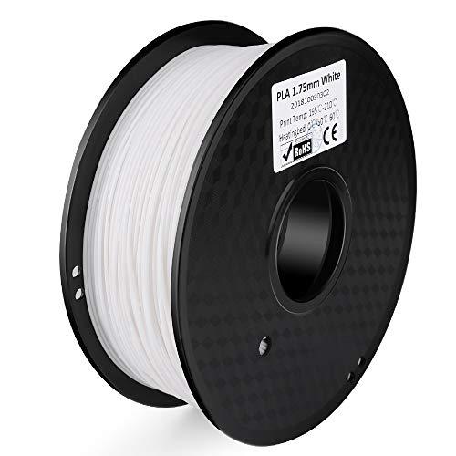 ELEGOO PLA Filament 3D Drucker 1,75mm 1kg Rolle für 3D Printer oder Stift ± 0,03mm Toleranz Weiß