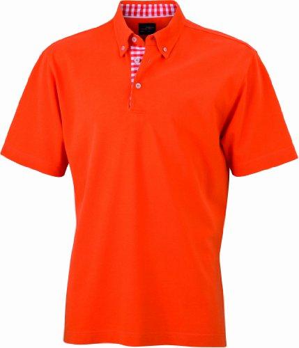 james-nicholson-herren-poloshirt-poloshirt-mens-plain-orange-dark-orange-dark-orange-white-small