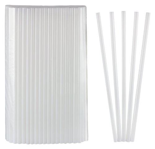 rinkhalme Jumbo weiß 150 Stk 25cm lang Durchmesser 8mm (Weiße Trinkhalme)