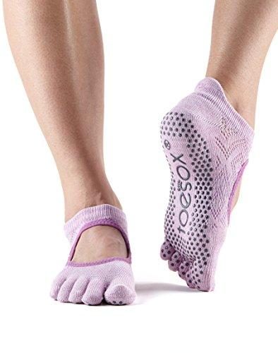 Grip ToeSox Bellarina calzini con dita, danza calzini e può essere utilizzato per barre, yoga, pilates, fitness–1paia di calzini antiscivolo Diamond Freesia