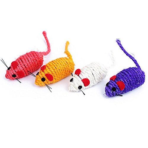 PAOR 4Stück Spielzeug Maus für Katze Spaß Kauen Beißen...