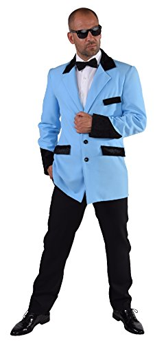 narrenkiste M216229-16-S türkis Herren Sakko-Jacket Discojackett Gr.S (Boogie Woogie Mann Kostüm)