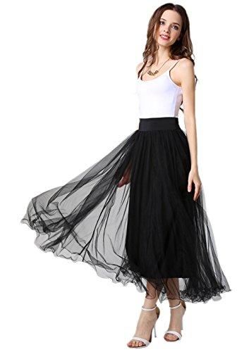 Petticoat 50er Jahre von Honeystore, Retro-Faltenrock perfekt zu Strick und Heels oder Sneakers, Unterrock für Hochzeit und Party One Size (Twin Diy Kostüme)
