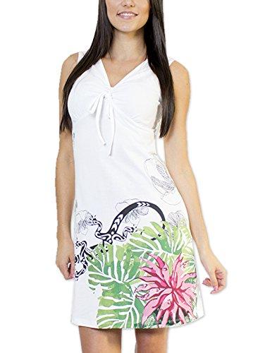 Coton Du Monde - Robe NINA Blanc Multicolore