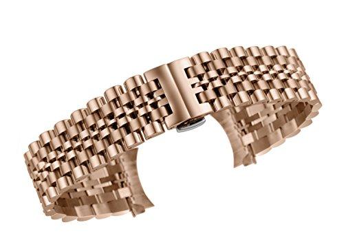 Fabelhafte Band (16mm fabelhafte Frauen Roségold Uhrenarmband Armband für Jubiläums Stil Edelstahl Luxusuhren)
