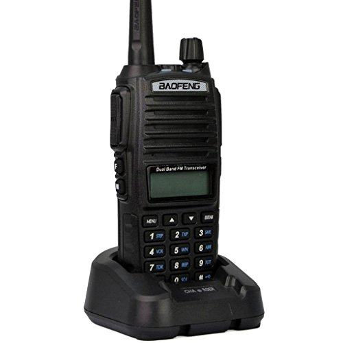 Mengshen® Baofeng UV-82 Funkgeräte Handfunkgerät Sprechanlage Radioempfänger WalkieTalkie High-powered Big battery than others Dual-Band 136-174/400-520 MHz FM Ham Radio, schwarz Transceiver UV-82Ou