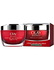 Olay Regenerist 3 Point Firming Anti Ageing Cream Fragrance Free Moisturiser for Firm Skin, 50 ml
