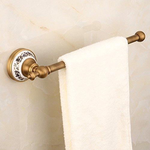 fer Blue-Tiled Kuppel Mount Single Rod Handtuchhalter Handtuchhalter Badezimmer Handtuchhalter Handtuchhalter, Antike ()