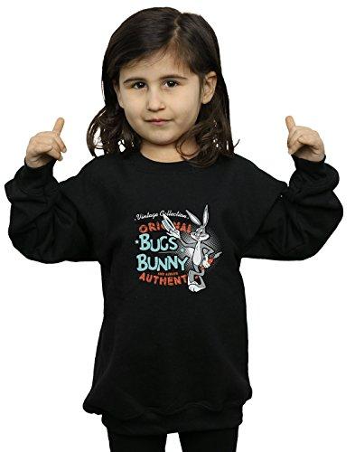 Looney Tunes Mädchen Vintage Bugs Bunny Sweatshirt 7-8 Years Schwarz -