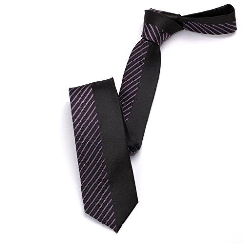 Necktie Cuiping- Schwarze männliche schmale Version 6.5cm zufälliger britischer Windkursteilnehmer-Bindungstrend