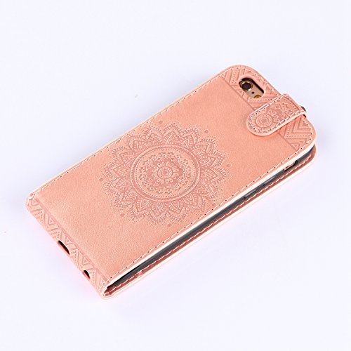 Hülle iPhone 6S Schutzhülle iPhone 6,SainCat iPhone 6/6S 4.7 Case Ledertasche Brieftasche im BookStyle, iPhone 6/6S 4.7 PU Leder Wallet Case Folio Schutzhülle Hülle Lederhülle Bumper Handytasche Skin  Rosengold