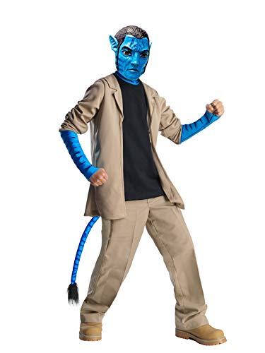 Avatar Jake Sully Deluxe Kostüm Kinder Kinderkostüm Pandora Fabelwesen Gr. S - L, Größe:M