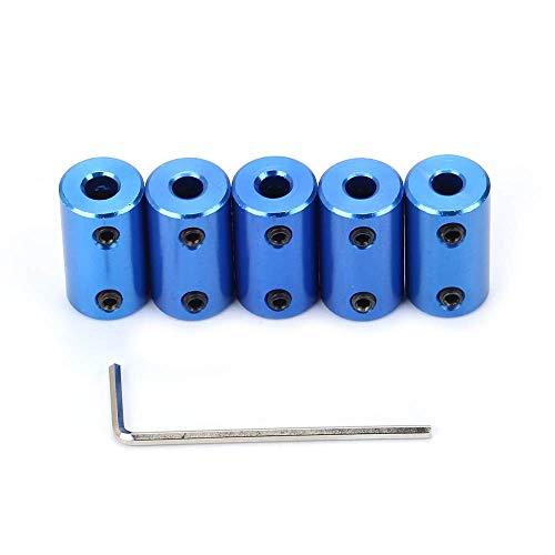 FYSETC - Acoplador para impresora 3D (5 mm a 8 mm, conector flexible de aleación de aluminio para máquina CNC CR-10 10S S4 Ender 3 Prusa Duplicator i3), azul, 5