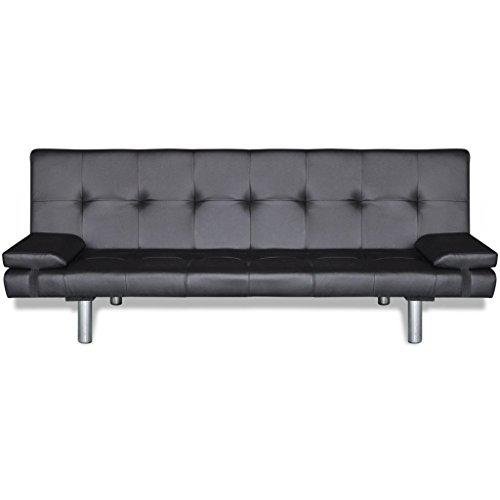 vidaXL Kunstleder Sofabett Sofa Couch Schlafcouch Schlafsofa Bettsofa + 2 Kissen