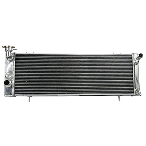 ALLOYWORKS 3 Core Aluminum Engine Cooling Radiator For JEEP CHEROKEE XJ 4.0L 1994-2001 (TRANSCOOLER DRIVER SIDE)