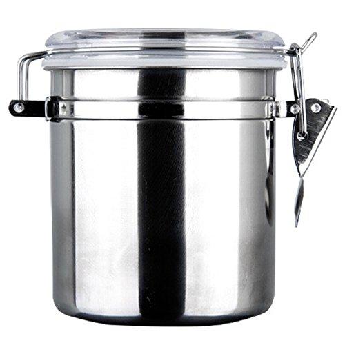 Luftdichter Edelstahl-Dose, Küchenutensil, zur Aufbewahrung von Kaffee, Zucker, Tee, Bohnen,...