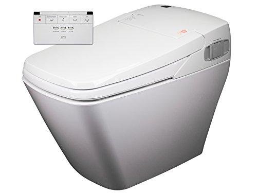 2x Dusch-WC VOVO TCB-080S Sparpaket Spülrandlos Rim free Tornadoflush Washlet Intimdusche Analdusche Komplettsystem Dusch-Toilette Bidet-WC