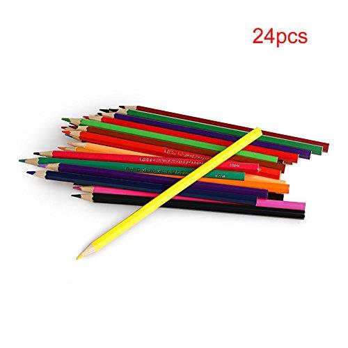 Dairyshop Nouveau Dessin 24 couleur Crayons cadeau Conçu pour les étudiants Artistes Crafters