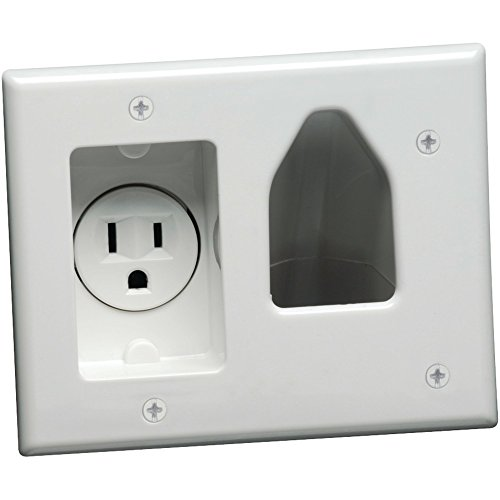 - T03Electronics 45-0021-wh Objektbereich Einbauleuchte Niedervolt Kabel Teller mit Einbaustrahler POWER (weiß) -