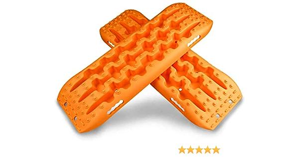 Autofonder 2 X Bergungsbrett Off Road Traktion Grip Winter Boards Sand Für Auto Auv Notfall Rettung Reifen Leiter Orange Auto