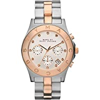 Marc by Marc Jacobs Blade Women's Silver Dial Stainless Steel Band Chronograph Watch - MBM3178