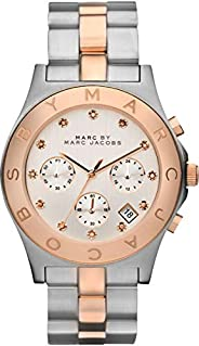 Marc by Marc Jacobs Blade Women's Silver Dial Stainless Steel Band Chronograph Watch - MBM
