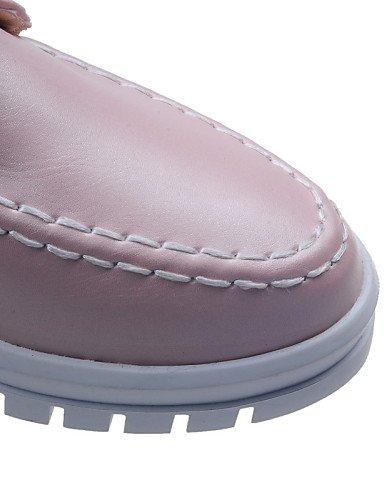 ZQ hug Scarpe Donna-Sneakers alla moda-Tempo libero / Ufficio e lavoro / Casual-Zeppe / Punta arrotondata / Comoda-Zeppa-Finta pelle-Nero / Rosa , pink-us8 / eu39 / uk6 / cn39 , pink-us8 / eu39 / uk6  pink-us6 / eu36 / uk4 / cn36
