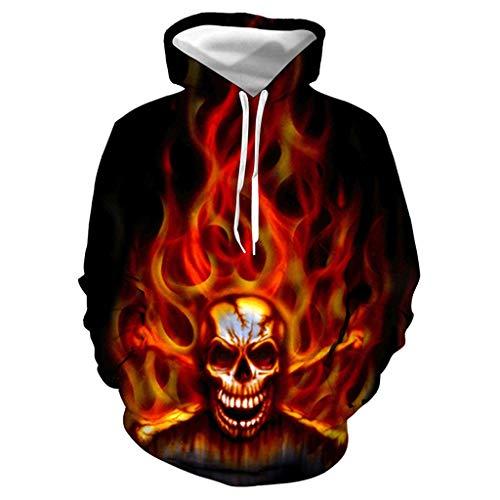 kolila Halloween Sale Herren Damen Unisex Kapuzenpullover Coat Horror 3D Gedruckte Halloween Hoodie Hooded Jacke Sweatshirt Pullover (Übergröße Fairy Kostüm)