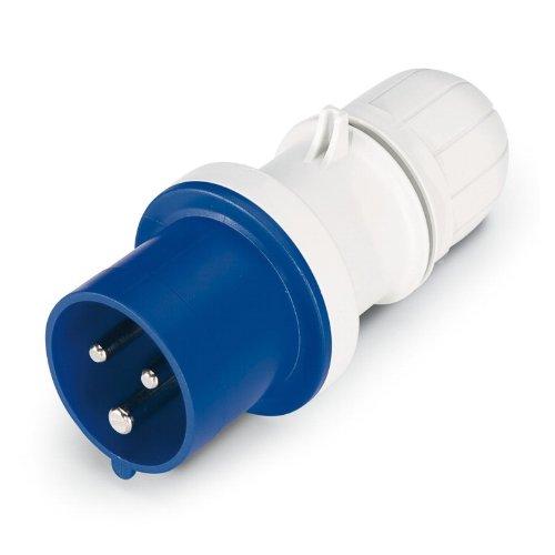 Scame 213.1633P Conector Eléctrico, 250 V, Azul