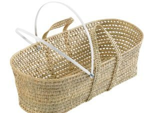 """Hood Bars And fittings For Moses Baskets (BASKET NOT INCLUDED) Elegant Baby Hood Bars & Metal Fittings For Moses Baskets Fits Most Moses Baskets Plastic Rods 36"""" 1"""