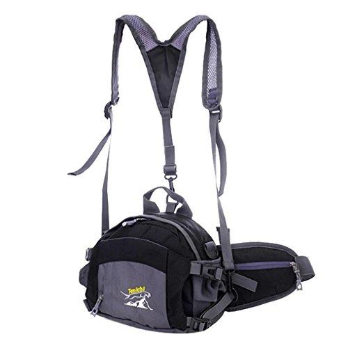 Imagen de panegy  4 en 1 multifuncional  bolso bolsa bandolera riñonera deportiva de viaje ciclismo senderismo bicicleta para hombres mujeres  negro