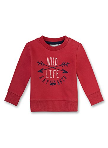 Sanetta Baby-Jungen Sweatshirt 114087 Rot (Faded Cayenne 3986) 68