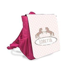 Kinder-rucksack für Mädchen mit Namen u. Pferden