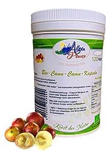 Camu Camu Kapseln - BIO - 2 x 120 (240) Stück - a 700 mg - 12% Vitamin C Gehalt. KEINE FÜLLSTOFFE