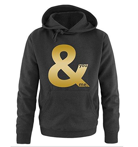 Comedy Shirts -  Felpa con cappuccio  - Maniche lunghe  - Uomo Black / Gold